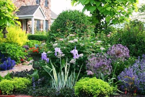 Оформленный сад