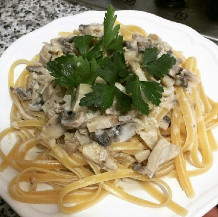 Итальянская паста с грибами